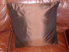 John Lewis100% silk cushion cover 45x45 cms.choc.brown , new