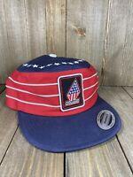 Volcom Stone Red White Blue Painters Cap Adjustable Stripes Snapback Hat Cap