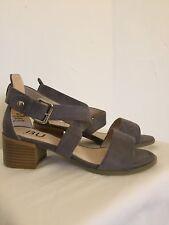 New Women's X Strap Low Block Heel Shoe Size 6 Gray Color