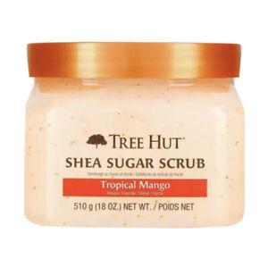 Tree Hut Tropical Mango Shea Sugar Scrub 18 oz Nourishes Smoothes Skin - 2 Pack