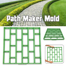 Diy Pave Maker Mold Garden Concrete Stepping Driveway Stone Paving Brick Us