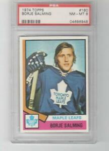 1974 Topps # 180 Borje Salming Rookie PSA 8 Toronto