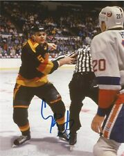 Vancouver Canucks Garth Butcher Signed Autographed 8x10 Photo COA