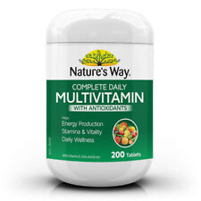 NATURE'S WAY COMPLETE DAILY MULTIVITAMIN WITH ANTIOXIDANTS 200 TABLETS HEALTH