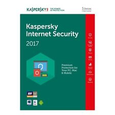 Kaspersky internet security 2017 multi-device 5PC/année 1 original licence