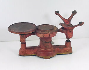 Antique Cast Iron Howe No 5113/8541Single Beam Scale original Ox Blood Red Paint
