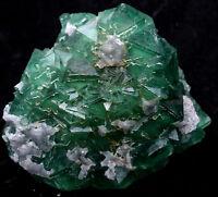3.7lb NATURAL Calcite Octahedral Green FLUORITE Crystal Cluster Mineral Specimen