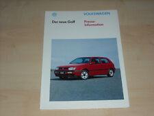 55952) VW Golf III Pressemappe 08/1991