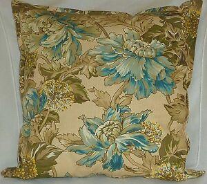 "Cushion Cover country cottage beige Cotton Home Sofa Décor 18"" Pillow Case X2"
