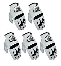 SG Pack of 5 Men All weather golf gloves cabretta leather palm patch and thumb