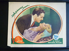 1929 LITTLE JOHNNY JONES - ROMANTIC LOBBY CARD - LeROY DIRECTED - HORSERACING