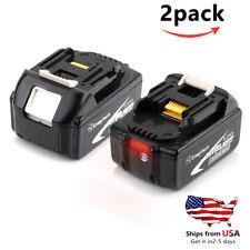 Makita 18V 6.0AH Replace Battery for BL1860B BL1860-2 BL1830 Li-ion 2 Pack
