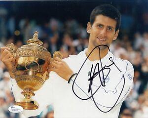 Novak Djokovic #0  8x10 Signed 8x10 Photo W/JSA Tennis 082618