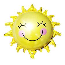 Sol flor hoja globos sonriente sol Dom aluminio globo decoración de cumpleaños
