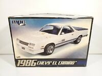 MPC 1986 CHEVY EL CAMINO 1/25 SCALE MODEL KIT STARTED W/ CUSTOM EXTRAS