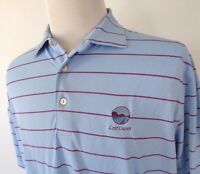 Peter Millar Summer Comfort Large Golf Polo Shirt Striped Multi Color Lost Dunes