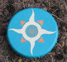 Sunshine Shaman Drum vedic Tambourine, frame drum,hand made, ethno folk 25cm 10″