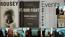 New Signed Ronda Rousey Book My Fight Your Fight UFC Rowdy Jean HC DJ MMA Judo