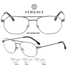 Versace VE1248 1252 Womens Eyeglass Frames Silver 100% New/Authentic 54mm
