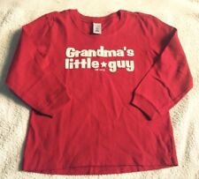 """OLD NAVY / Gap """" GRANDMA'S LITTLE GUY """" Red T Shirt Top : 5T  Age 4 - 5  BNWOT"""