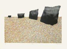 "Alan Cox, ""Field"", 1971 original-litografía, autografiado, autografiada"