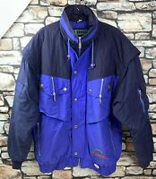 Trespass Mens Professional Ski Jacket Blue with Hood Size Large VGC - FREE POST