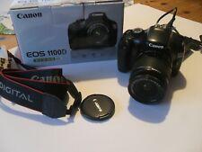 Canon EOS 1100D 12.2MP Digitalkamera - Schwarz (Kit mit EF-S...