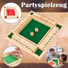Hölzern Mathematisch Shut The Box Pub Board Würfelspiel Spielzeug Für 4 Spieler