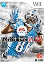 Madden NFL 13 [Nintendo Wii American Football EA Sports Games Improved AI] NEW