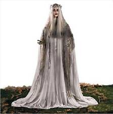 """Tall Standing White Ghost Bride w/ Lighted Flashing Red Eyes Halloween Prop 67""""H"""