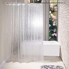 "Clear 3D Water Cube Design PEVA Shower Curtain Bathroom Waterproof Fabric 72"" AU"