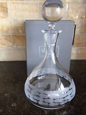 Michael Wainwright TRURO CRYSTAL  DECANTER  & Stopper New in Box