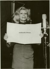Orig. Photo, Ruth Gassmann als Sängerin, 1971