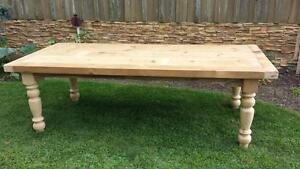 farmhouse table , farm house table, reclaimed barnwood, 8' harvest dining table