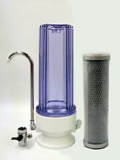 Clear Countertop Drinking water filter system; CTO Carbon filter