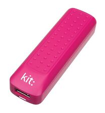 Kit 2000 mAh Universal Power Bank portátil para dispositivos Apple/Android-Rosa