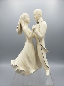Lenox Wedding Promises First Dance Ivory Gold Porcelain Cake Topper Vintage 1999