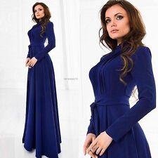 Kaftan Abaya Islamic Muslim Cocktail Womens Long Sleeve Vintage Long Maxi Dress#