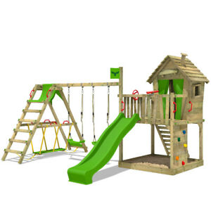 FATMOOSE DonkeyDome Double XXL Climbing Frame Outdoor Slide Surf-Swing Extension