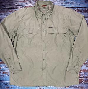 mens SIMMS shirt XL GUIDE SERIES green long sleeve lightweight fishing