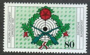 Germany 1987 MNH Mi 1330 Sc 1514 European Rifleman's Festival.Vintage guns **