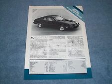 1987 Dodge Charger Plymouth Turismo Vintage Info and Specs Article