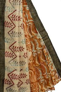 Vintage Indian Long Dupatta Pure Cotton Wrap Decor Printed Scarf Stole LD5419