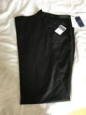 Mens Polo Ralph Lauren Black Classic Fit Cotton Trousers, Size 36T 38L, New