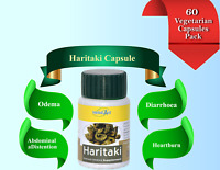 Haritaki 500mg Extract 60 Vegetarian Capsules Herbal Supplement For Healthy Life