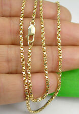 "Twisted Box Chain Necklace 55cm 21.65"" Genuine 375 9ct 9K Yellow Gold, 30TKV"