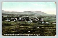 Troy VT, Great Mountains, Aerial View, Vintage Vermont Postcard Z26