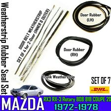 For 72-77 MAZDA ROTARY RX3 808 818 SAVANNA 2D COUPE WEATHERSTRIP RUBBER SEAL x7