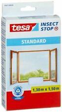 tesa Insect Stop STANDARD 1,30x1,50m Moustiquaire Auto-agrippante pour Fenêtres - Blanche