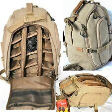 Professional Canvas Camera Backpack Camcorder DSLR SLR Waterproof Shoulders Bags